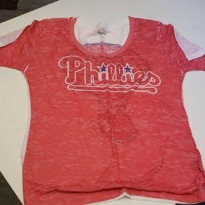 Super soft almost sheer Phillies tshirt